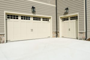 42928918 - residential house three car garage doors