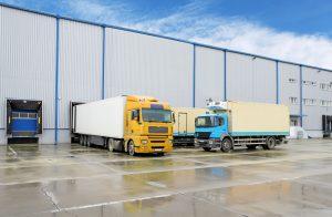 37189113 - truck in warehouse - cargo transport